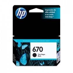 Cartucho negra HP 670...